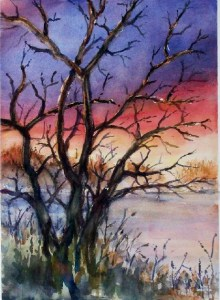 """Ugly Trees 2"" Painting by Diane Kosco From paintingsilove.com"